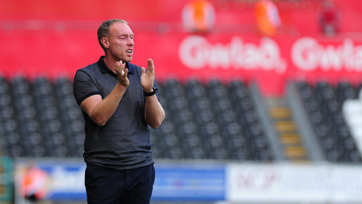 Swansea City head coach Steve Cooper