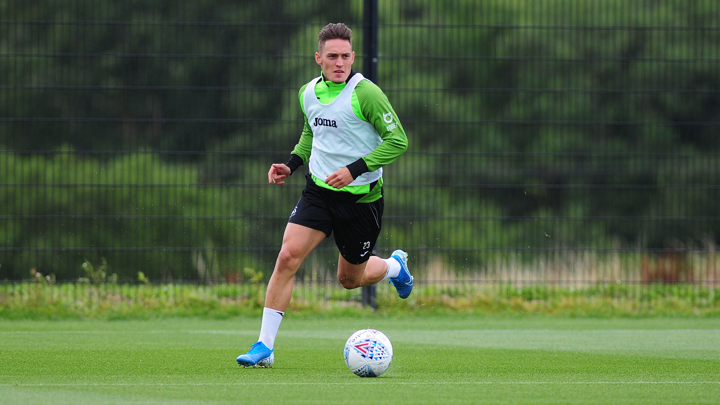 Connor Roberts in action during training