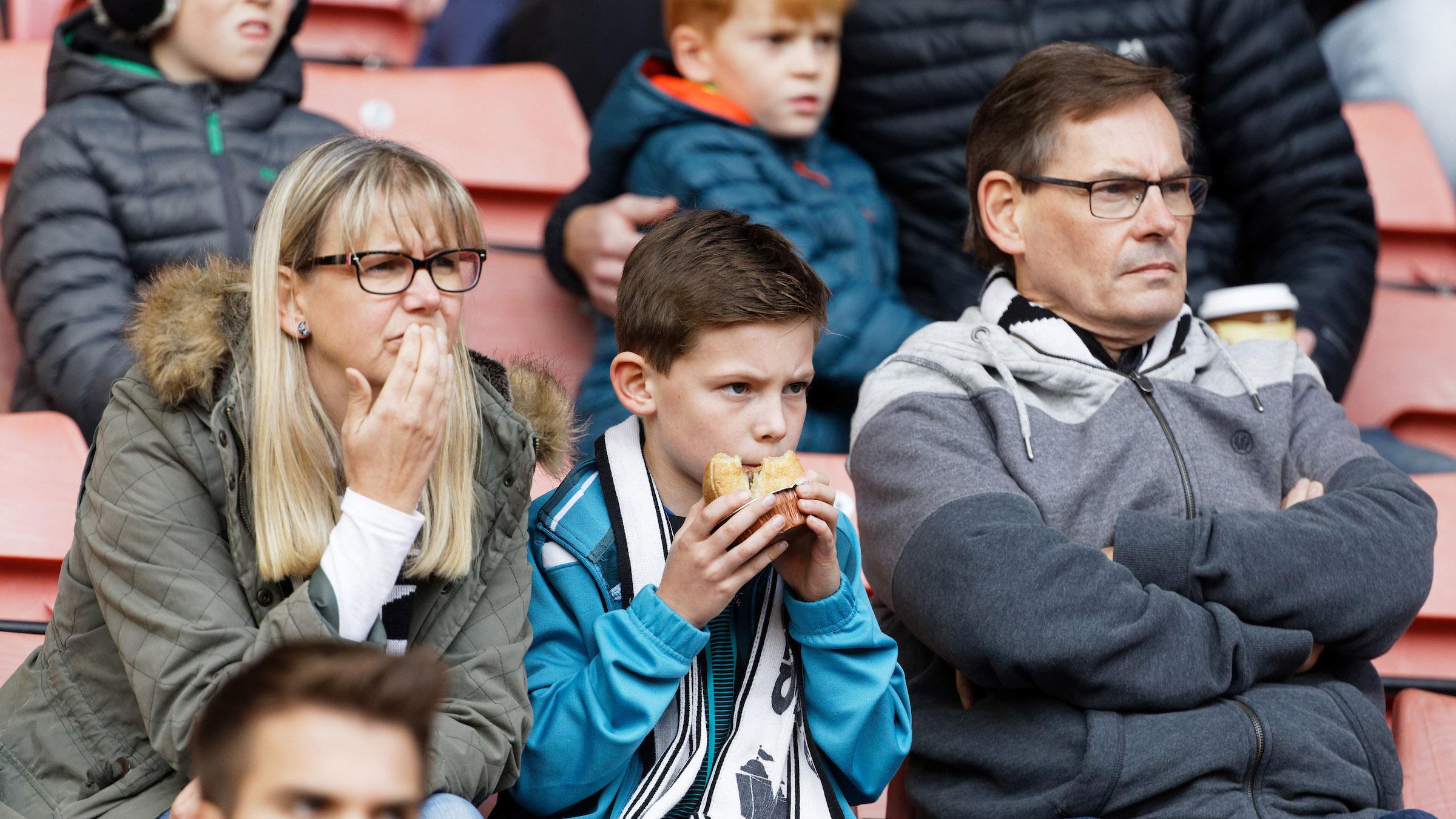 Swansea City fans at Barnsley