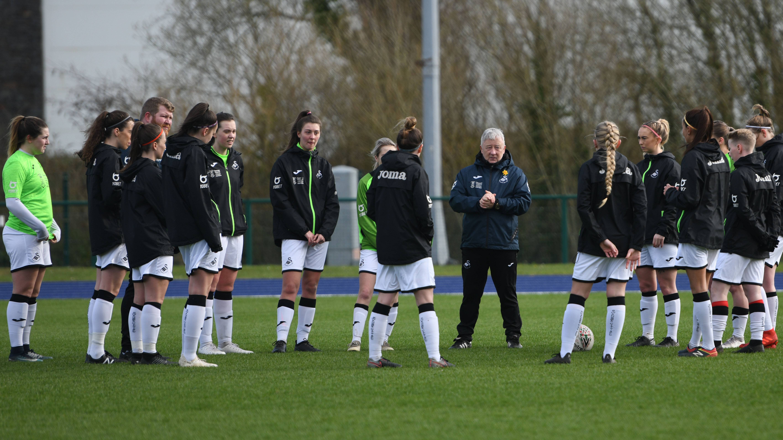 Swansea City Ladies manager Ian Owen