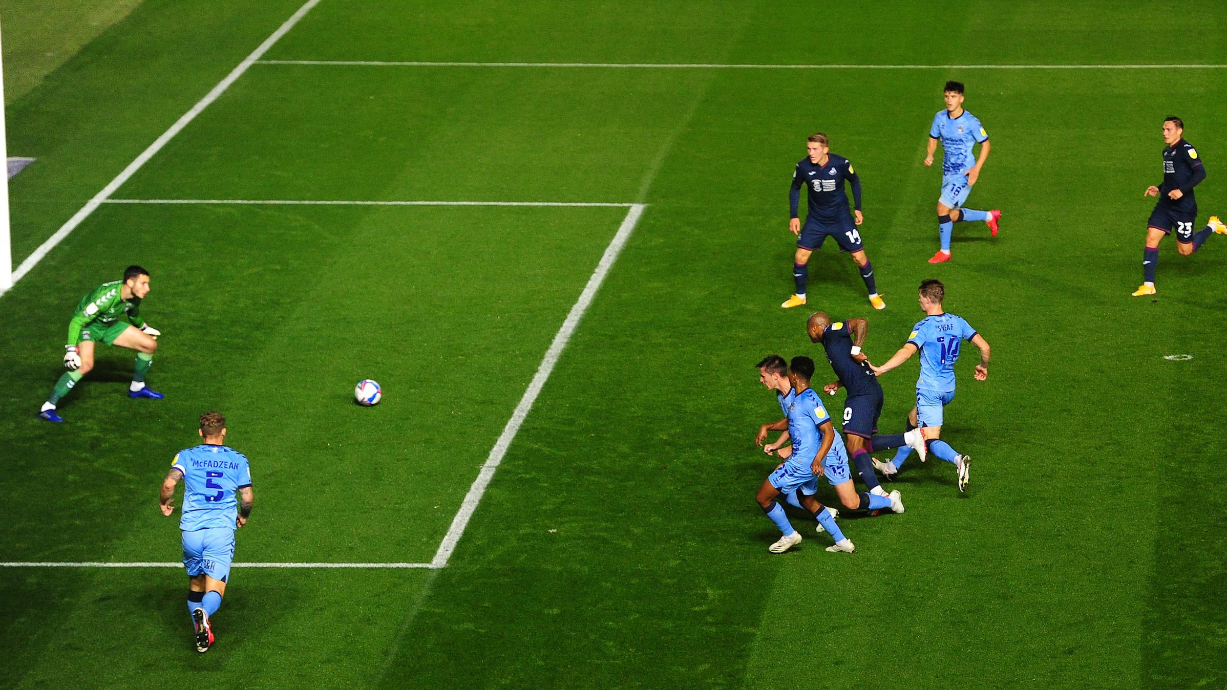 Andre Ayew goal v Coventry