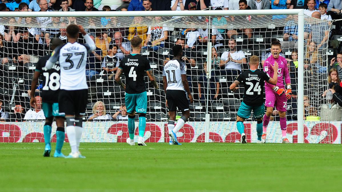 Freddie Woodman Derby penalty save
