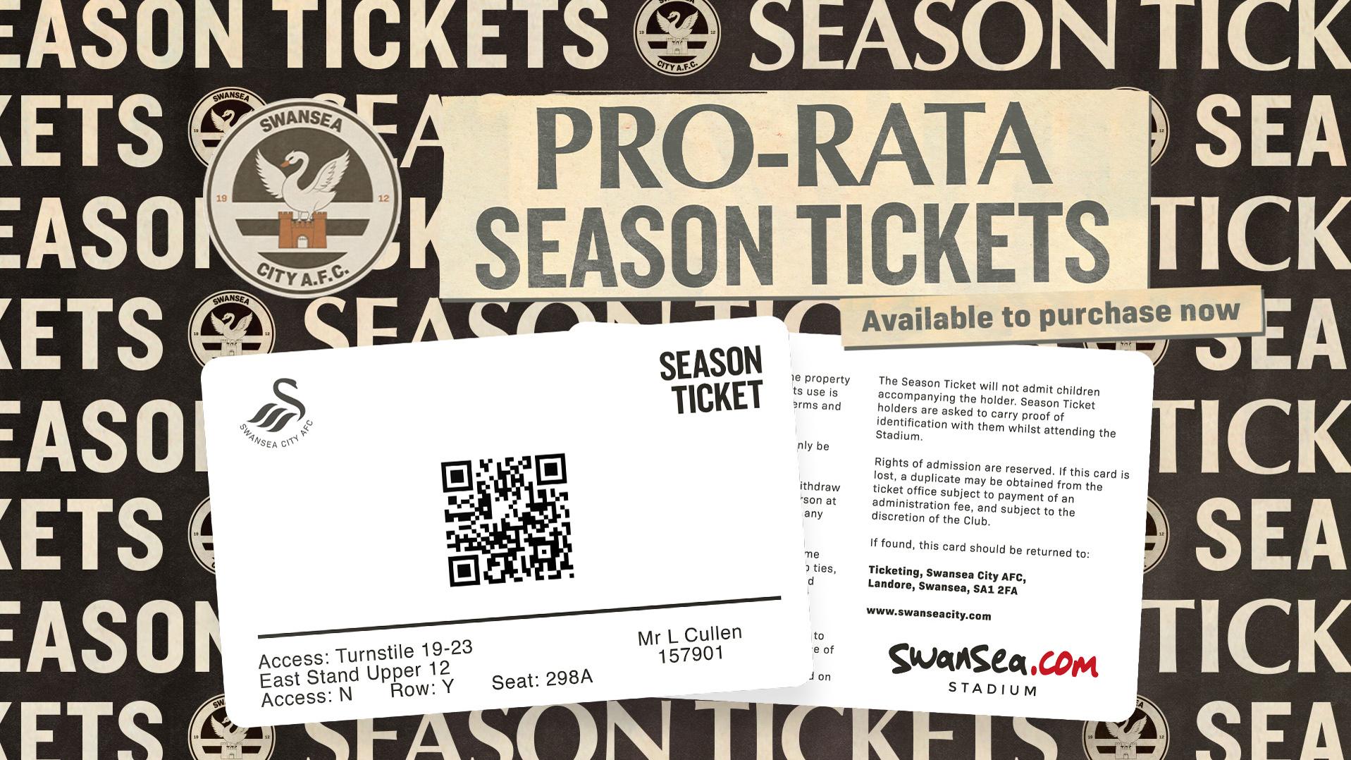 Pro-rata season ticket artwork